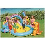 Intex Dinosaur Dinoland Inflatable Swim Play Center Kiddie Pool Water Slide