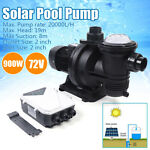DC Solar Water Pump 900W 72V Swimming Spa Pool Pump Motor with MTTP CONTROLLER