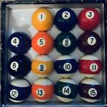 Opened Never Used Pool Balls Missing Cue Ball FREE SHIPPING