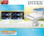 Multi Color LED Waterfall Cascade for Intex Above Ground Pools with Hydroelectr