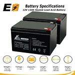 12 Volt 12Ah 2 Pack Replaces UB12120F2 12V 12Ah F2 Wheelchair Scooter Battery