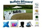 Buffalo Blizzard SUPREME PLUS Swimming Pool Winter Cover w Complete Package Kit