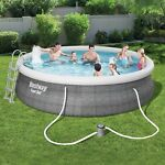 Bestway 15ft x 42in Inflatable Swimming Pool w Ladder Cover Pump