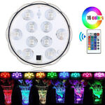 Underwater LED Swimming Pool Light 16 RGB Submersible Fitting Bulb Lamp+Remote