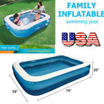 7ftx5ft Swim Center Family Backyard Above Ground Inflatable Kiddie Swimming Pool
