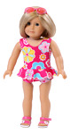Floral Fun Swimming Suit made for 18quot; American Girl Doll Clothes
