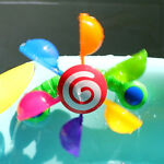 Rainbow Windmill Waterwheel Summer Swimming Play Game Fun Party Toy Shan
