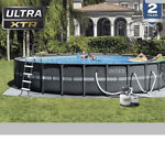 Intex 26339EH  Ultra XTR Round Frame Pool Set 24 ft x 52 in PICK UP In Hand