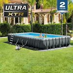 Intex 32ft x 16ft x 52in Ultra XTR Rectangular Pool Saltwater System W EXTRAS!