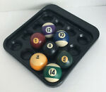 Vintage Seven 7 Misc. 2 1 4quot; Used Pool Billiard Balls with Plastic Holder