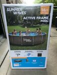 FAST SHIP Summer Waves Active Metal Frame 14 ft Above Ground Pool Wicker Print