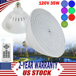 120V 35W Swimming Pool Light RGB LED Bulb Underwater Color Changing Lamp + RC