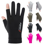 Anti-slip Mens Womens Fishing Gloves Outdoor Cycling Bike Sports Ice Silk Gloves