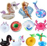 3 Barbie or LOL Doll Inflatable Floats Used Swimming Pool Or Doll Furniture