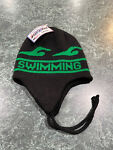 Vintage Black amp; Green Knit SWIMMING Winter Beanie Hat *BRAND NEW w TAGS**