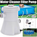 Electric Swimming Pool Water Cleaning Tool Above Ground Pool Filter Pump CLEAN!