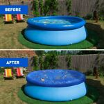 Round Above Ground Swimming Winter Pool Cover Family Pool Protector
