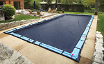 Pool Winter Cover Rectangular In Ground Parts Accessories Navy Blue 20 x 40 Ft