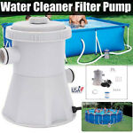 300GPH Electric Swimming Pool Filter Pump For Above Ground Pools Cleaning Tool A