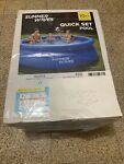 New Summer Waves 10ft Quick Set Swimming Pool Blue With Filter FAST SHIP In Hand