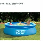 Intex 10 '  X 30 ' Easy Set  Swimming Pool new  Without cost