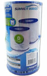 Pack of 2 Summer Waves Swimming Pool Pump Filter Cartridge Type D Intex Coleman