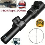 1 4x20 Scope Rifle Red Illuminated Sight Reticle Green Dot Hunting Tactical Mil.