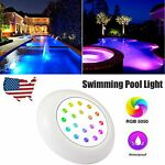 RGB 18LED Color Changing Underwater Swimming Inground Pool Light Bulb Waterproof