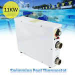 11KW 380V Electric Pool Heater Swimming Pool Thermostat Stainless Steel Liner