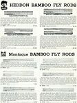 1952 Print Ad of Heddon & Montague Bamboo Fly Fishing Rods
