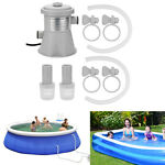 Electric Swimming Pool Filter Pump Above Ground Pools Clean Paddling Set US Plug