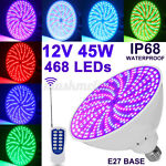 Color Changing Remote Swimming Pool Light Bulb LED Lamp 45W for Pentair Hayward
