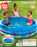 Kids Inflatable Pool Play DAY 5.5FT SUMMER FunToddler SWIMMING Round Pool NEW