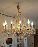 Vintage Crystal Chandelier 12 Lights BROOKLYN NYC PICK UP ONLY