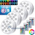 Underwater Swimming Pool Light RGB LED for Pond Party Garden Hot Tub W Remote