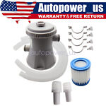Electric Swimming Pool Filter Pump For Above Ground Pools Cleaning Tool 110v USA