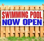 SWIMMING POOL NOW OPEN Advertising Vinyl Banner Flag Sign Many Sizes