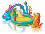 Intex Dinoland Inflatable Play Center Dinosaur Pool Swim Slide Kids Fast Ship