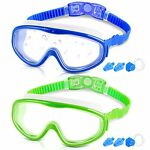 COOLOO Kids Goggles for Swimming for Age 3 15 2 Pack Kids Swim Goggles with n...