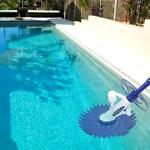 Automatic Swimming Pool Vacuum Cleaner Hover Climb Wall with Hose In Ground Blue