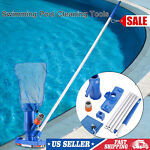 US Portable Swimming Pool Spa Suction Vacuum Head Cleaner Cleaning With Mesh Bag