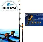 OKIAYA STRAIGHT BUTT 80-130LB VENOM PRO Trolling Rod For PENN OR TIAGRA