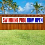 SWIMMING POOL NOW OPEN Advertising Vinyl Banner Flag Sign LARGE HUGE XXL SIZE