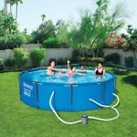 Bestway 10 ft x 30 in Steel Pro Frame Above Ground Swimming Pool Set *FREE SHIP*
