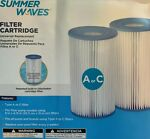 Summer Waves Type AC Swimming Pool Pump Filter Cartridge - 2 PACK*FAST SHIPPING