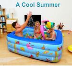 Pool Inflatable Swimming Pump Family Kids Summer Outdoor Above Play Garden Water