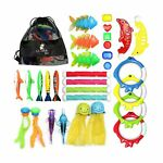 Chuchik Diving Toys 30 Pack Swimming Pool Toys for Kids Includes 4 Diving St...