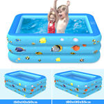 70''Inflatable Family Swimming Pool Outdoor Backyard Summer Lounge Water Fun Kid