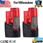 For Milwaukee M12 12 Volt XC 2.5Ah Extended Capacity Battery 48 11 2420 2401 2PC