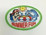 PATCH GSA Girl Scouts Summer Fun Swimming Dolphin Drinks in the Pool Sun